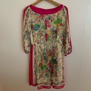 Eci New York Long Sleeve Floral Dress